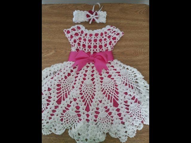 Vestidos de  croche para bonecas