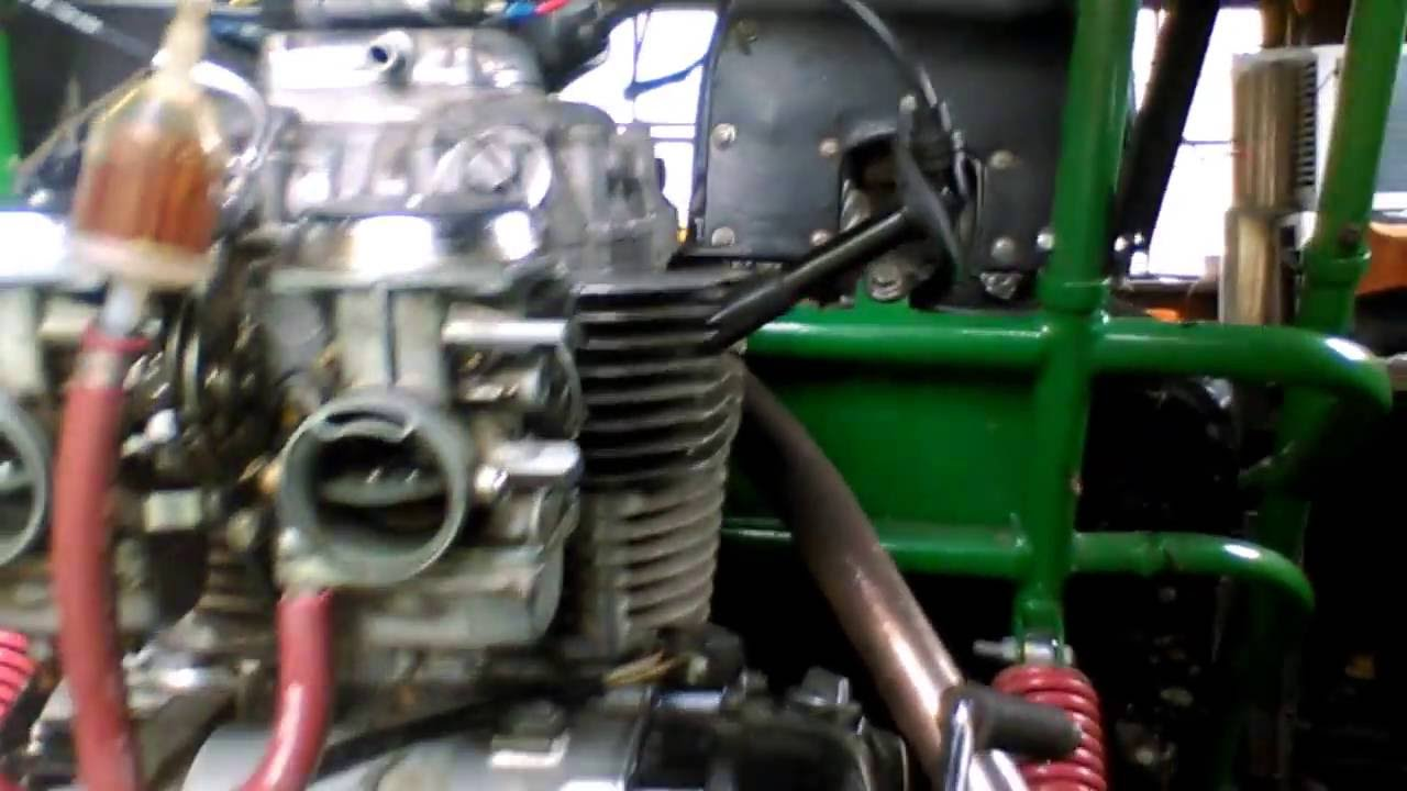 Gk110 modified go-kart with 1975 Honda CB360E motorcycle engine