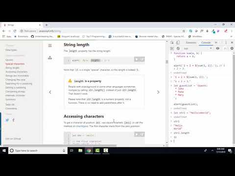 javascript.info The Modern JavaScript Tutorial 5.3 Strings thumbnail