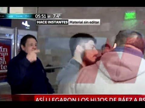En medio de insultos, los hijos de Lázaro Báez llegaron a Buenos Aires para ser indagados