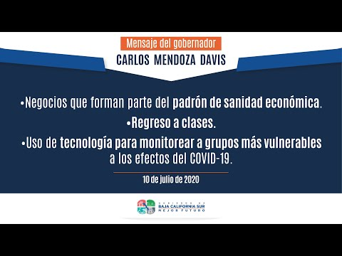 Mensaje del Gobernador Carlos Mendoza Davis