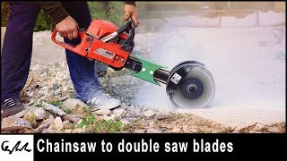 Chain Saw to concrete groove cutter