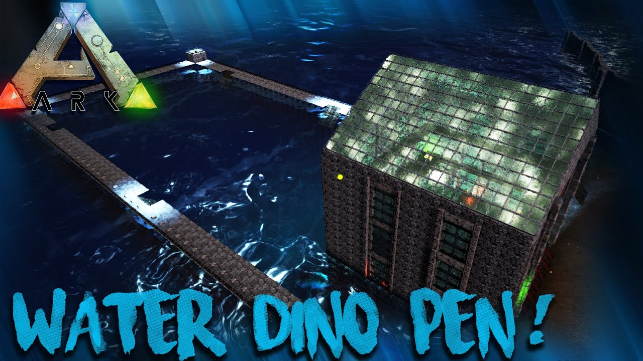 Ark my new water dino pen build angler fish for Angler fish ark