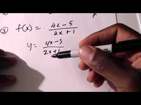 CXC Math: Finding The Inverse Of A Function, More Examples. CSEC CXC Maths ACT Math, SAT Math,