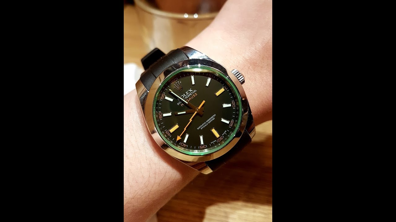 Rolex Rubber Rolex Milgauss On Rubber B Strap Perfect