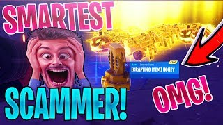 SMARTEST SCAMMER Gets SCAMMED For GRAVEDIGGER *GOES WRONG* In Fortnite Save The World *MUST SEE*