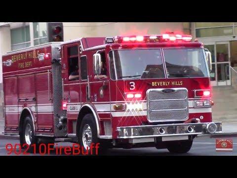 Beverly Hills Fire Dept. Engine 3 Responding x3