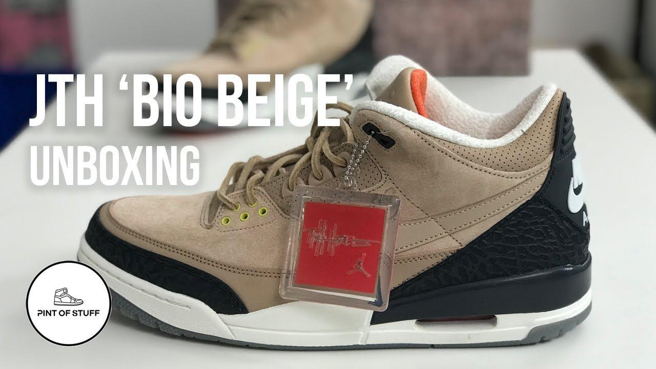 "65a5ff7f786288 Air Jordan 3 JTH ""Bio Beige"" Unboxing with Mr B - YouTube"