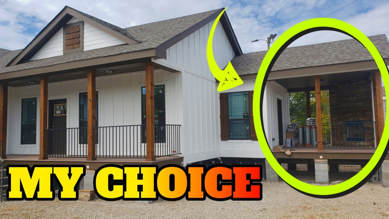 Fireplace On Porch Mobile Home Tour Insanity Briarritz By Deer Valley Homebuilders Youtube