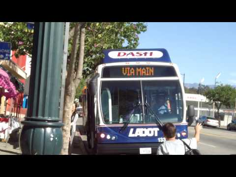 Dash LADOT Buses - Lincoln Heights/Chinatown #13319 & LA Buses 45C CNG Low Floor Route 84