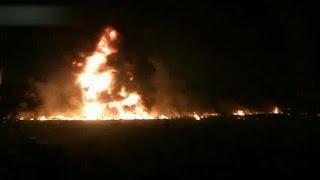 Heftige beelden explosie Mexico: mensen rennen brandend voor hun leven - RTL NIEUWS