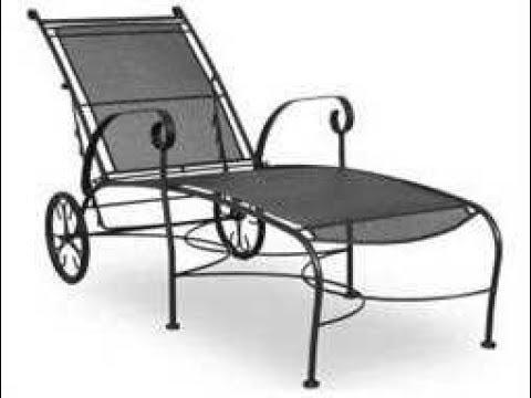Black Wrought Iron Patio Furniture Youtube