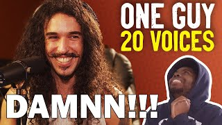 One Guy, 20 Voices (Michael Jackson, Post Malone, Roomie & MORE) REACTION!!