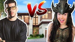 BOYFRIEND VS GIRLFRIEND HOUSE BUILD CHALLENGE!! - ARK: SURVIVAL EVOLVED