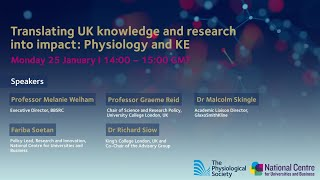 Translating UK knowledge and research into impact: Physiology and KE