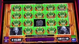 NEW MIGHTY CASH TED ~ BONUS WINS ~ BIG MONEY GREEN SLOT MACHINE
