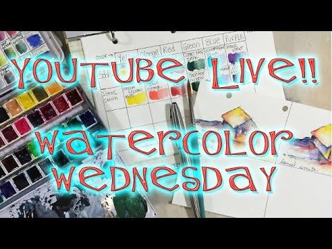 !!NOT SUITABLE FOR CHILDREN!! Watercolor Wednesday Live! #pebeo #tapplastics