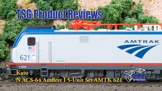 N Scale Amtrak ACS-64 Amfleet 5 Piece Set Kato Product Review