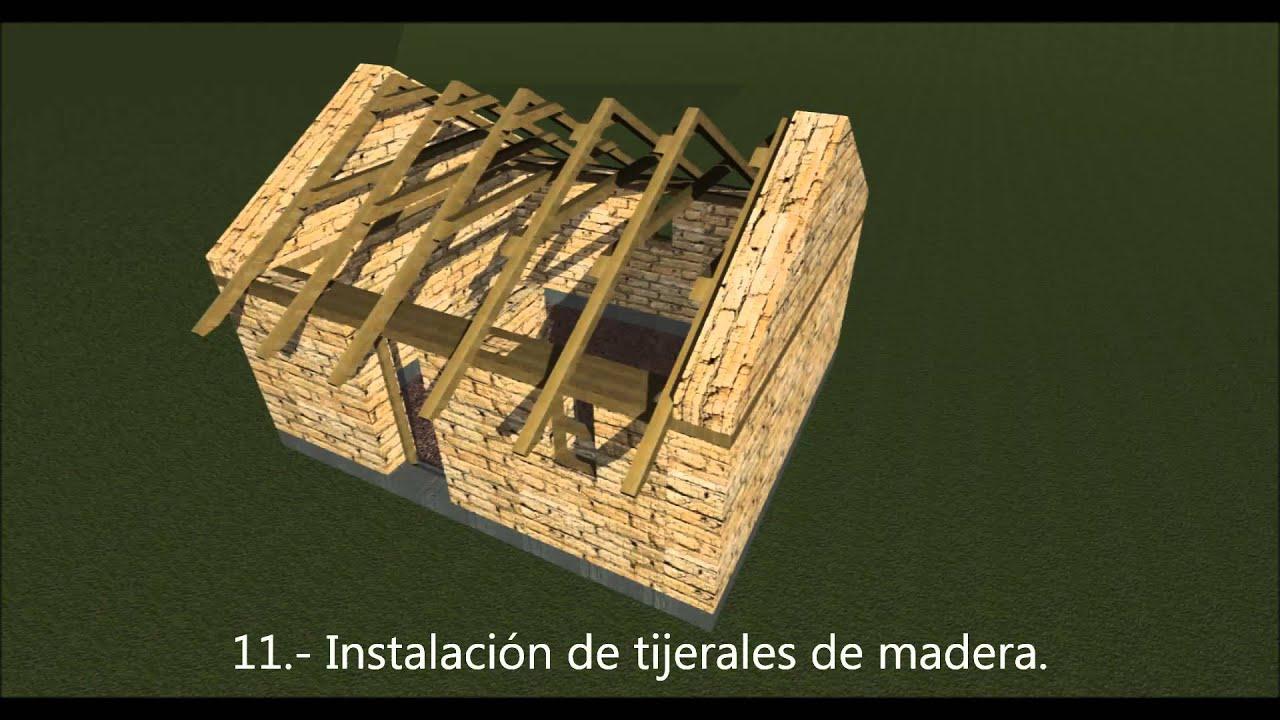 Vivienda Rural : así se construye un módulo habitacional. - YouTube