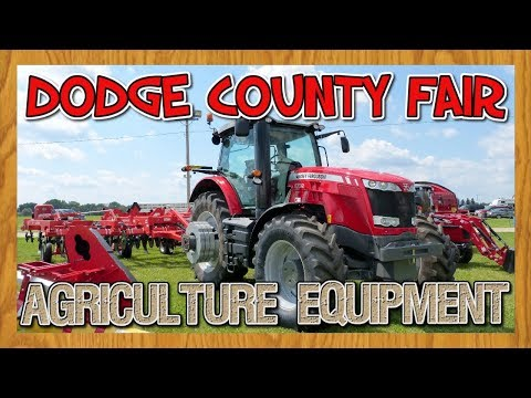 Agriculture Equipment on display at the Dodge County Fair