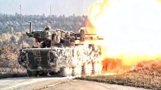 M1128 Mobile Gun & 30mm Stryker Dragoon (ICVD) In Action