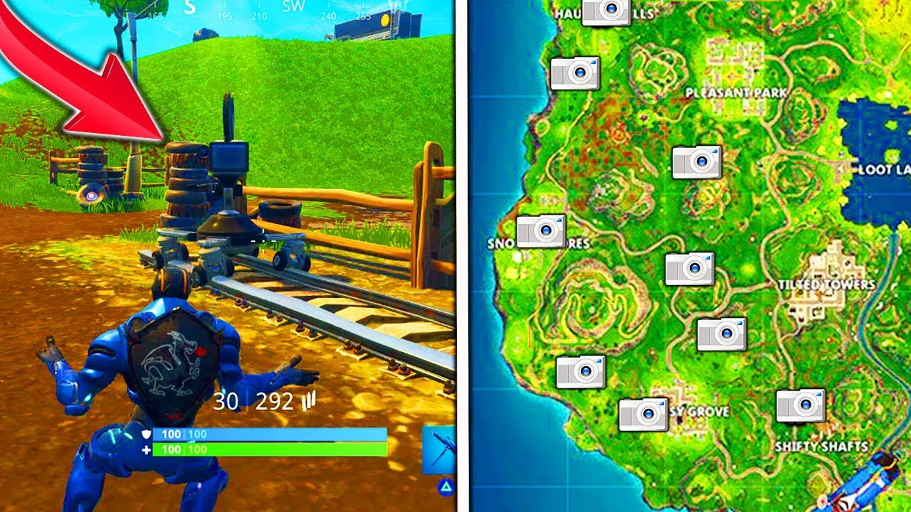 Map Of Film Camera Locations Fortnite Dance In Front Of Different Film Cameras All Locations Week 2 Challenges Film Camera Locations Youtube