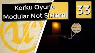 Modular Not Sistemi - Korku Oyunu - Unreal Engine 4 [33]