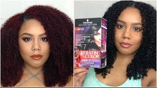 THAT REAL REVIEW: Coloring Natural hair red to black |JASMINLEE515