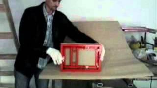 Нажимной сдвижной люк в стену под плитку(потайной ревизионный люк под плитку, скрытый люк под покраску, алюминиевый люк в потолок, люк невидимка..., 2012-10-02T16:05:29.000Z)