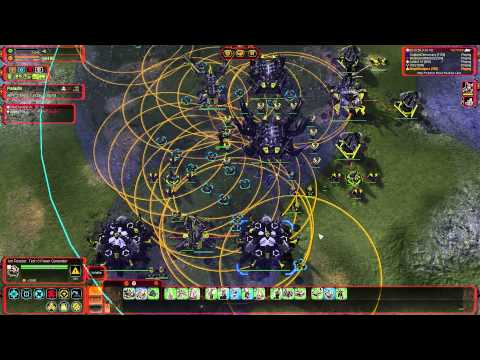Supreme Commander FAF Multiplayer Gameplay 5 FFA Player  - Soul Ripper Attack!