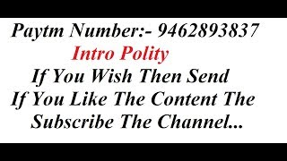 Polity Introduction FOCUSED ON || SSC CGL || BANKING || RAILWAYS || CAT ||CDS ||NDA ||OTHER EXAMS ||