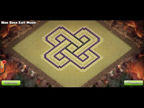 Clash Of Clans - Town Hall 8 (Th8) War Base + 3 Air Defense