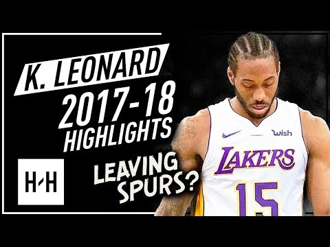 Kawhi Leonard Offense & Defense Highlights 2017-2018 - Leaving San Antonio Spurs?