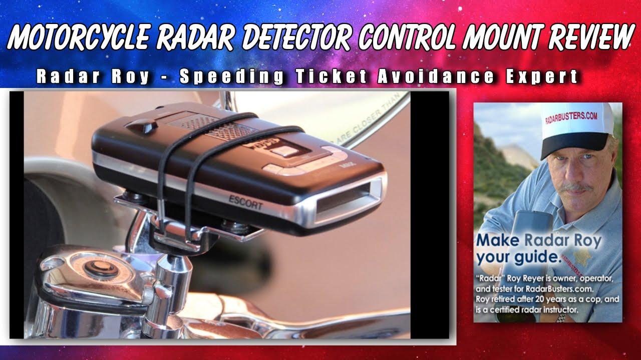 Redline Radar Detector >> Motorcycle Radar Detector Control Mount Review - YouTube