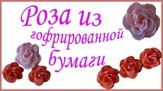 Мастер класс изготовление роз (цветов) из гофрированной бумаги своими руками(В этом мастер-классе показан простой способ изготовления роз из гофрированной бумаги. Такие цветы можно..., 2016-11-30T06:21:12.000Z)