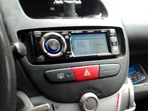 impianto stereo in una citroen c1 - youtube