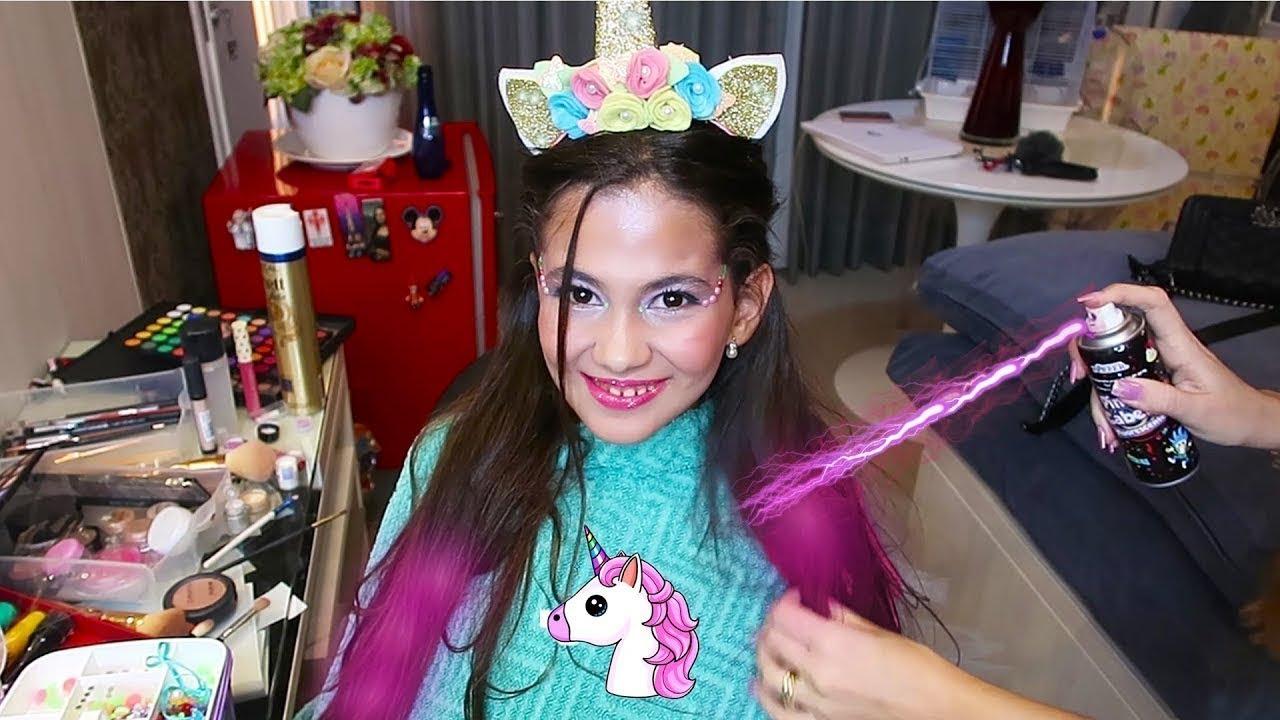 virei unicornio arrume se comigo para minha festa de aniversario