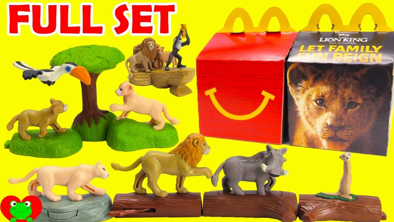 Opening 2019 The Lion King Mcdonald S Happy Meal Toys Full Set Youtube