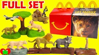 2019 The Lion King McDonald's Happy Meal Toys Full Set