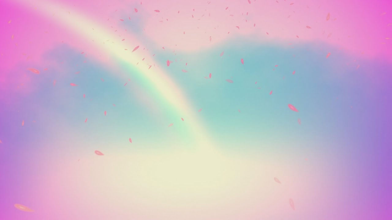 60FPS Welcome to Heaven Pink Cyan Rainbow Animated HD ...