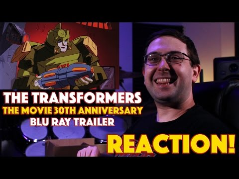 REACTION! The Transformers: The Movie Official 30th Anniversary Blu-Ray Trailer - Cartoon Movie 2016