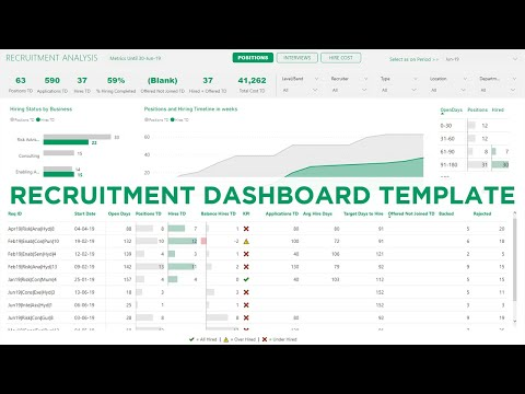 Recruitment Tracker Dashboard - Plug and Play Template