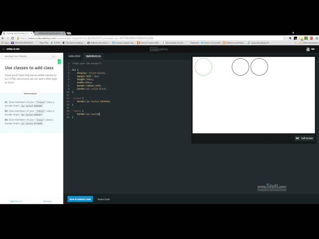 Codecademy CSS Sorting Your Friends