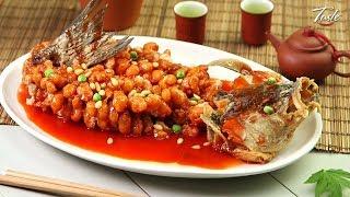 Amazing Knife Skills - Sweet and Sour Mandarin Fish l 松鼠鱼
