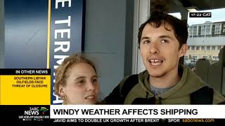 Gale force winds persist in Cape Town