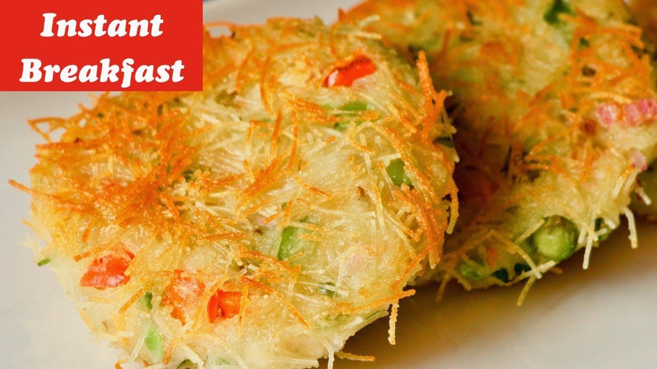 Lockdown Recipes Instant Breakfast Recipe Sooji Seviyan Recipe Indian Style Spicy Pancake Recipe Youtube