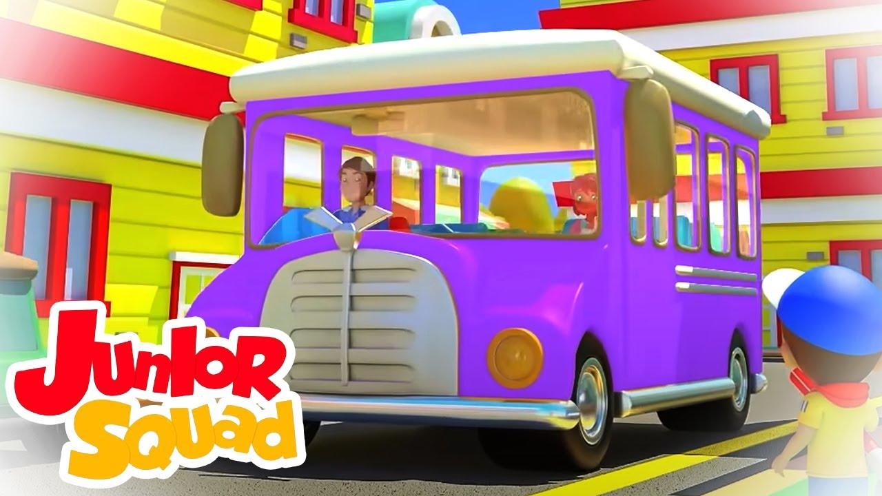 Ruedas en el bus   Dibujos animados   Canciones infantiles   Junior Squad Español   Educación