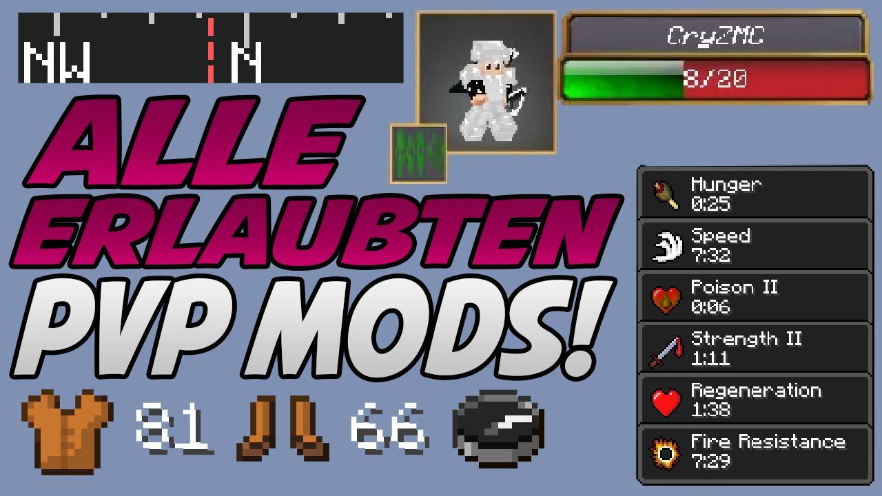 Alle Minecraft 1 8 PVP MODS auf GOMME  INSTALLATION (einfach