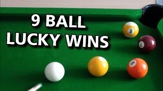 Flukey 9 Ball Wins- 5 Years on Youtube!