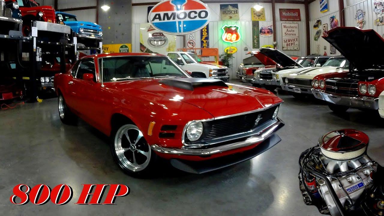 800 HP 1970 Ford Mustang Fastback 545 CI Boss 429 V8 - YouTube